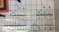Colour coding long multiplication